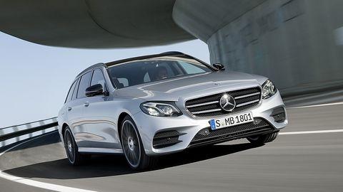 Mercedes E Klasse T-Modell - von vorn der übliche Mercedes-Look