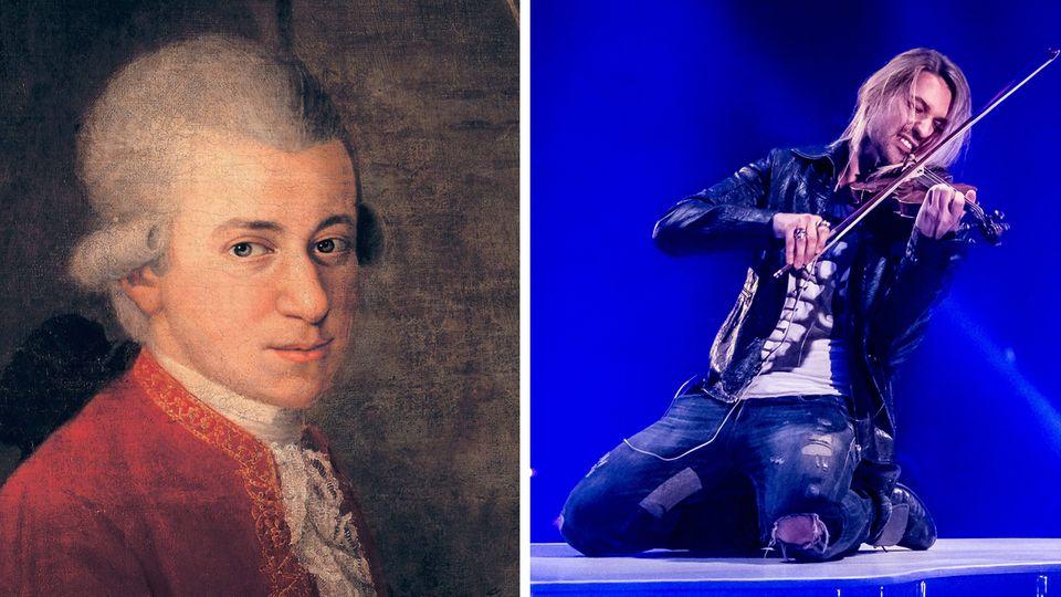 Wolfgang Amadeus Mozart und David Garrett