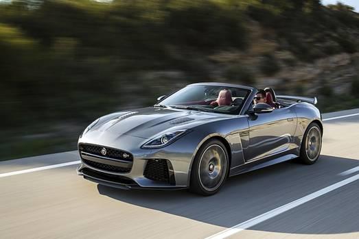 Das Jaguar F Type SVR Cabrio ist 314 km/h schnell
