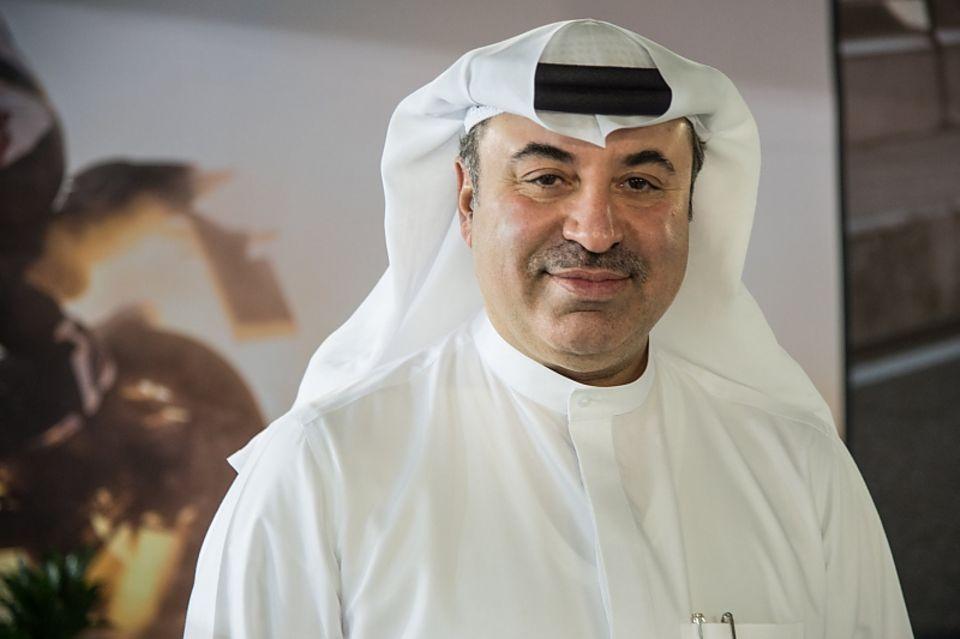 Omar Alfardan mit seiner Autosammlung Doha