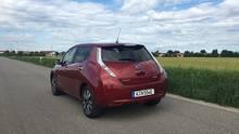 Nissan Leaf Jahrgang 2016 - optisch gewohnt zurückhaltend