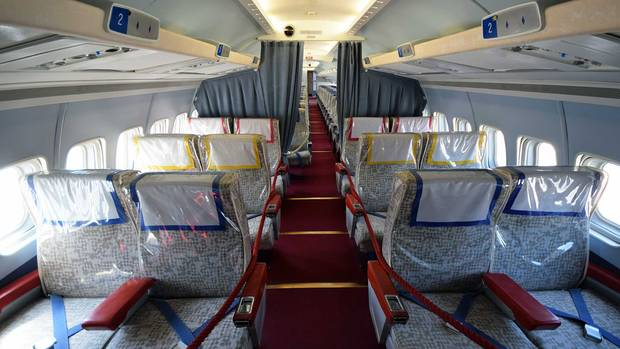 In der First Class einer Convair CV-990