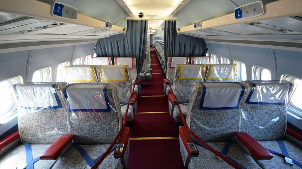 In der First Class einer Convair CV-990