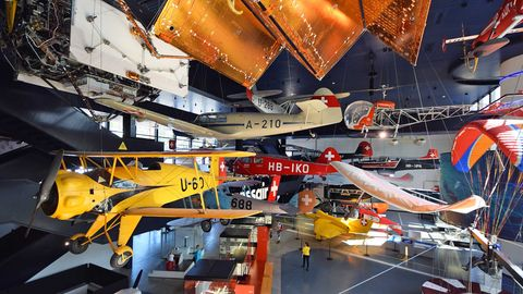Luft- und Raumfahrthalle im Verkehrshaus der Schweiz in Luzern