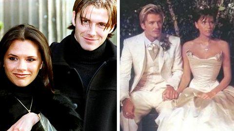 Vom Trash- zum Glamour-Paar: Mit Krönchen und blonden Strähnen: Vor 20 Jahren heirateten die Beckhams