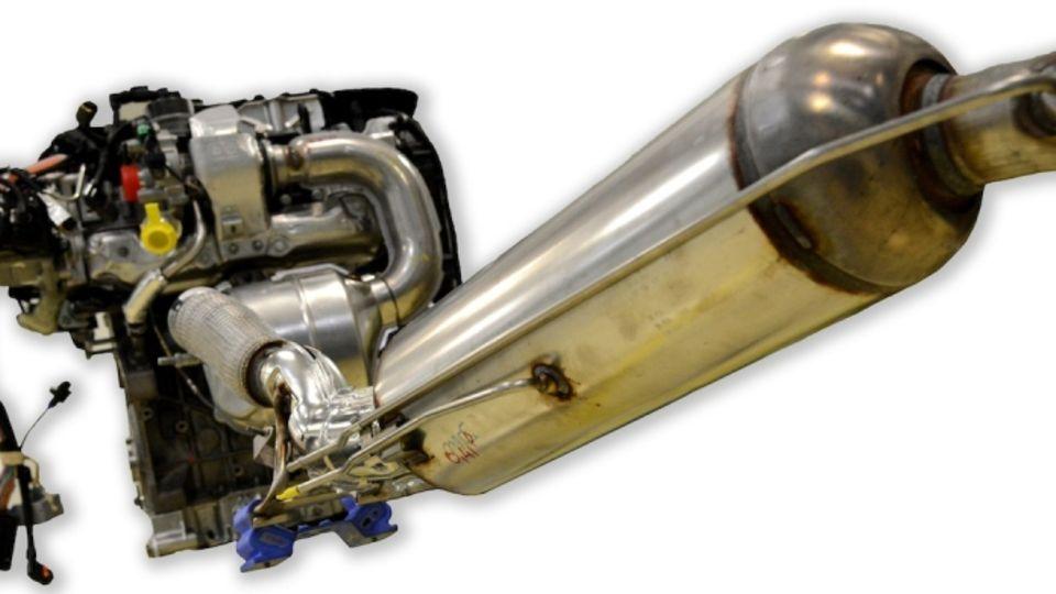 HDI-Blue-Abgasstrang mit SCR-Katalysator vor dem Partikelfilter
