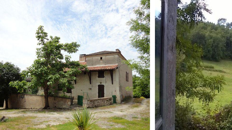 Mit drei Acres Land, Panoramablick kostet dieses Traumhaus in Roquecor 285.000 Euro.
