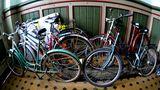 Fahrrad im Hausflur