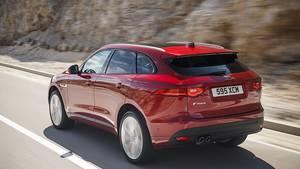 Mit der Achtgang-Automatik kostet der Jaguar F Pace 2.0d kostet mindestens 48.600 Euro