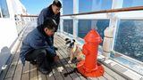 Kennels mit Hydranten am Bord der Queen Mary 2