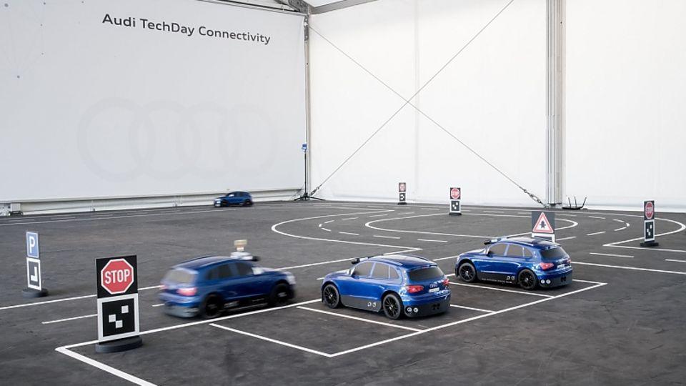 Audi Testflotte im Maßstab 1:8