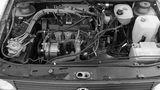 Der 1,8 Liter große Benzinmotor des VW Golf syncro von 1986.