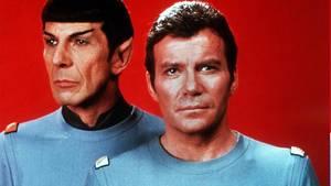 Logik und Gefühl:Spock (Leonard Nimoy) und Captain Kirk (William Shatner). Foto: dpa