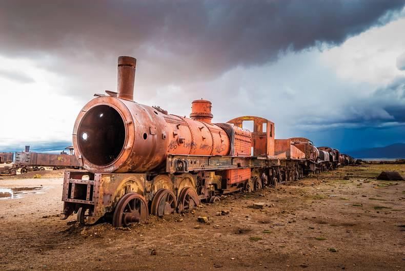 Eisenbahnfriedhof in Bolivien