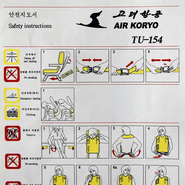 Notausstiegsanleitung Tupolew Tu-154 von Air Koryo