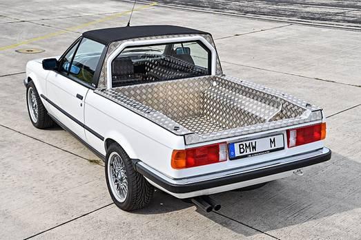 Der BMW E30 M3 Pickup hat ein Cabrio als Basis