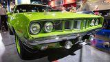 Ein 1971er Plymouth Cuda build Mark Worman mit einem 6 4 Liter Hemi Motor