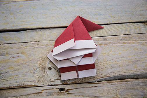 selber machen der origaminikolaus. Black Bedroom Furniture Sets. Home Design Ideas