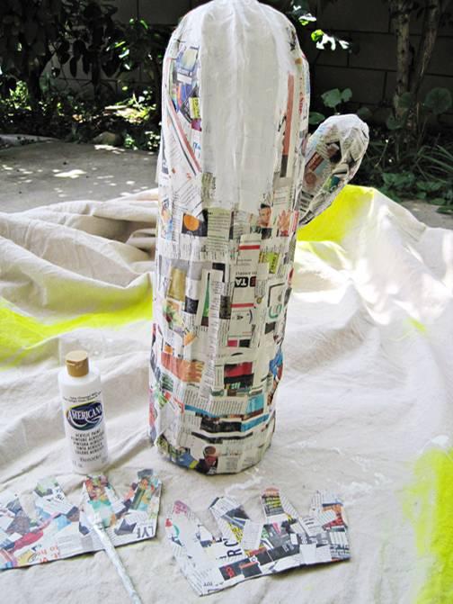 lampe aus pappmache