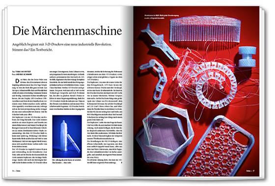 Der Artikel des 3D-Drucker-Selbstversuchs in der NEON