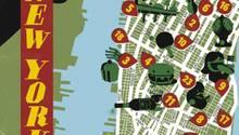 """Karte von New York in der NEON-Rubrik """"Meine Stadt"""""""