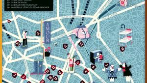 """Karte von Paris in der NEON-Rubrik """"Meine Stadt"""""""