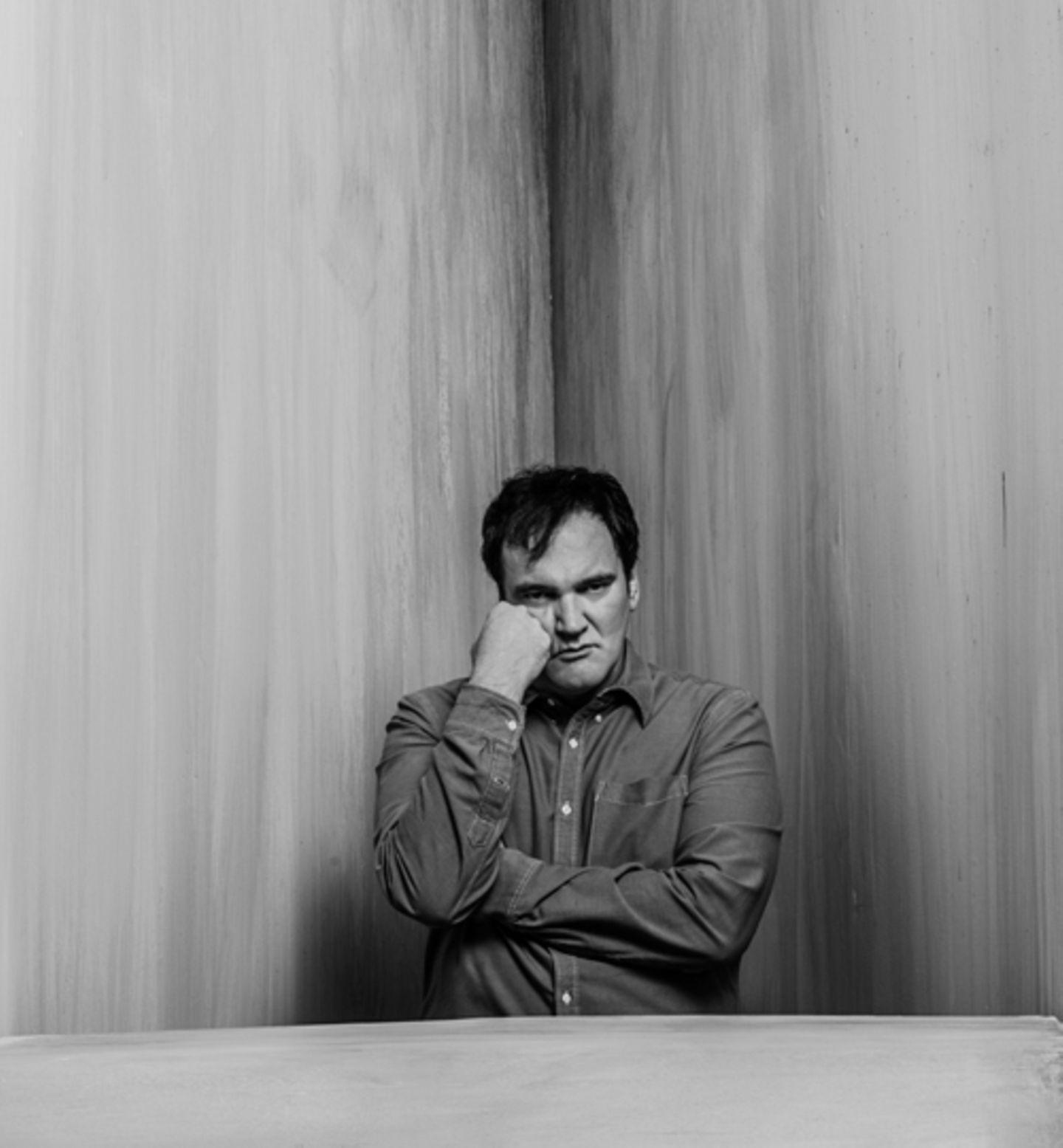 Porträt des US-Regisseurs Quentin Tarantino. Mit NEON spricht er über die Rolle der Gewalt in seinen Film.