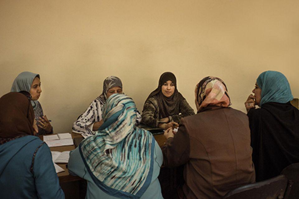 Imanin in Marrakesch: Acht Mourchidate gibt es mittlerweile in Marrakesch. Sie treffen sich wöchentlich in den Räumen der Religionsbehörde.
