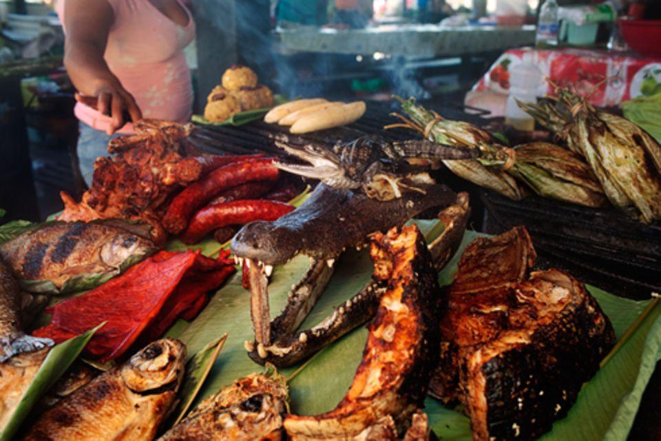 Zuhause: Die Köstlichkeiten, die Fischer aus Iquitos im Amazonas angeln, wären bei Percy streng verboten.