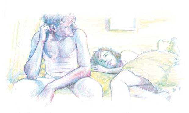 Unser Kolumnist trifft ein frisch verliebtes Paar, das beim Sex erkennen muss: Aller Anfang ist schwer.