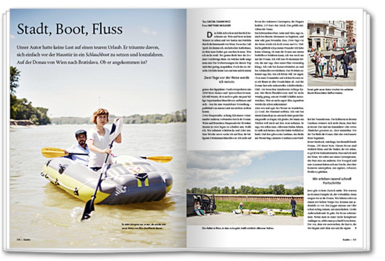 Zuhause: Stadt, Boot, Fluss
