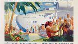 Poster von Frank McIntosh 1939: Das riesige Martin M-130 Verkehrsflugboot kam ausschließlich ab 1935 im Pazifik zum Einsatz. Über Hawaii ging es weiter bis Manila auf die Philippinen.