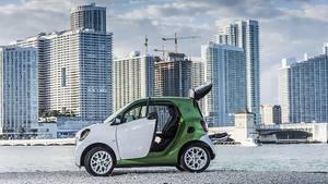 Der Kofferraum ist auch beim Smart Fortwo Electric Drive nicht besonders groß