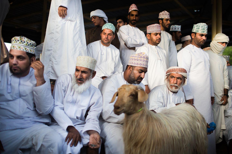 Ziegenmarkt in Nizwa, Oman