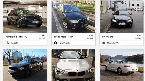 Croove - zunächst werden in München private Autos vermietet