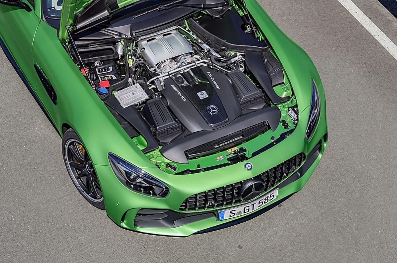 Der vier Liter große V8-Motor des Mercedes-AMG GT R.