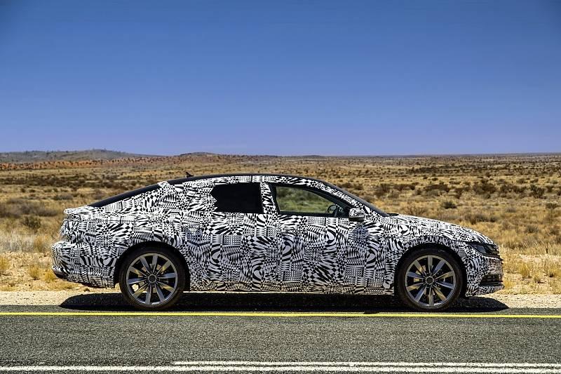 VW Arteon Prototyp - er hat fünf Zentimeter mehr Radstand als der Passat