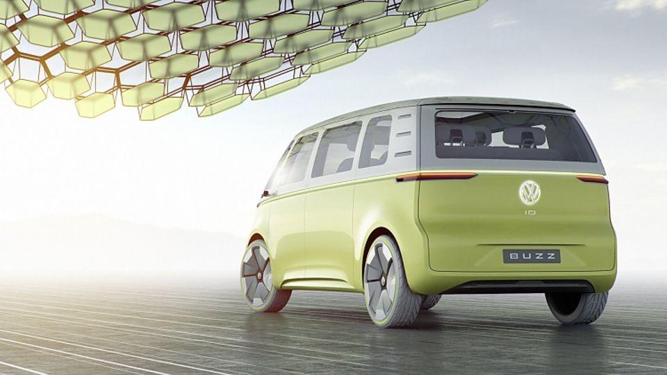VW I.D. Buzz Concept NAIAS 2017 - das Design ist unspektakulär und klar