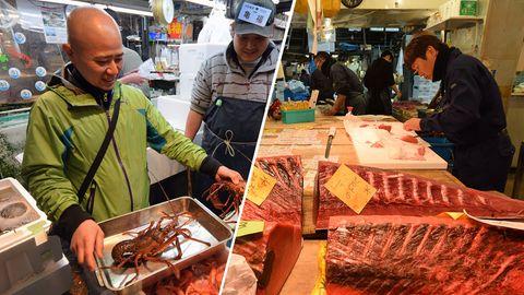 Rundgang über Tsukiji-Fischmarkt: Mit Tokios Sushi-Meister auf Thunfischjagd