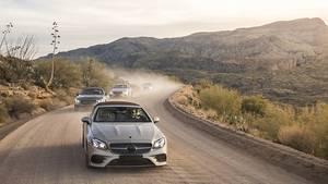 Mercedes E Klasse Cabrio Prototypenerprobung - das Fahrzeug ist eng mit dem E-Klasse Coupé verwandt