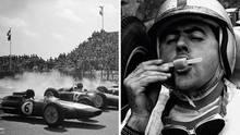 Collage: Formel Eins Fahrer und Wagen