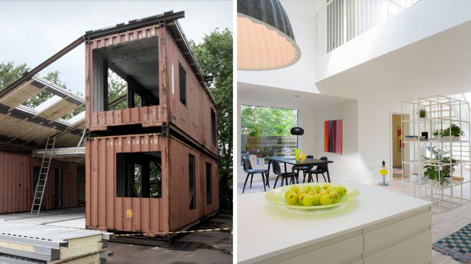 WFH-House: Dieses skandinavische Traumhaus wird aus alten Schiffscontainern gemacht