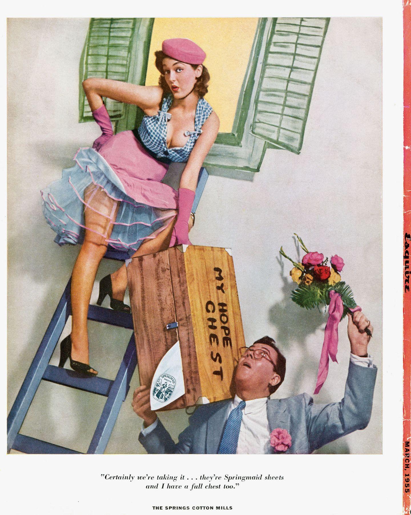 Werbung Springmaid, 1955