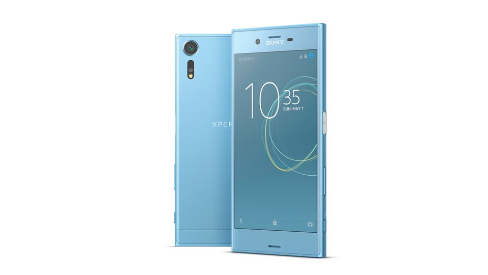Das Sony Xperia XZs in Eisblau