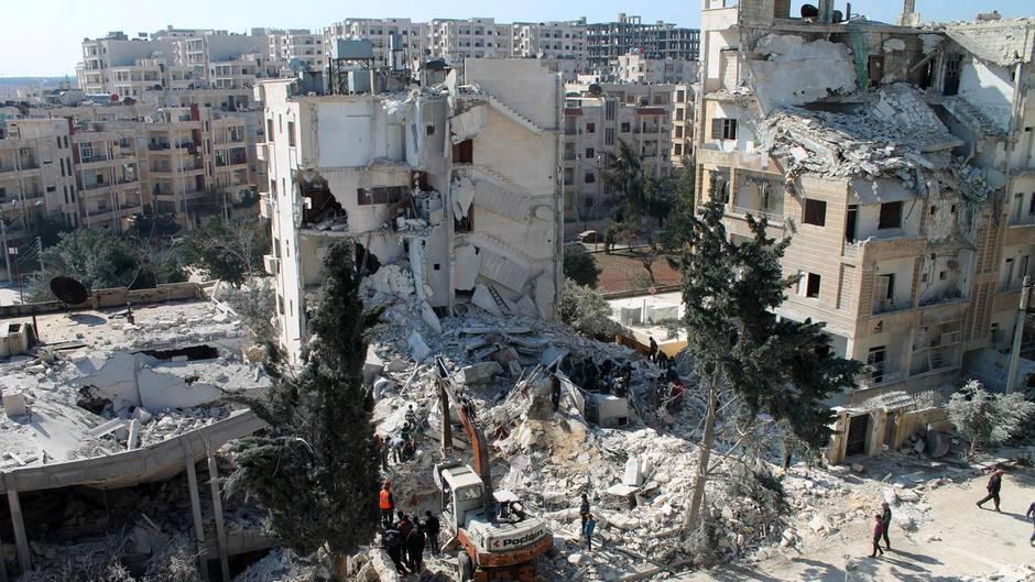 Im syrischen Idlib soll der Schlag gegen Al-Kaida stattgefunden haben