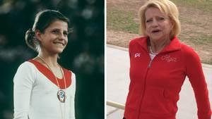 Olga Korbut wurde durch ihre Olympia-Teilnahme 1972 (l.) über Nacht zum Star.