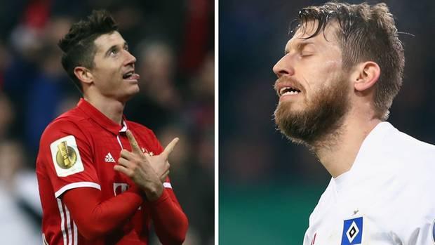 Aron Hunt vom HSV reagiert auf die 1:2-Niederlage gegen Borussia Mönchengladbach im DFB-Pokal