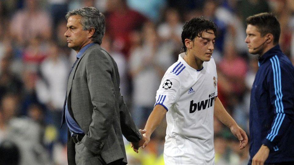 Mesut Özil und José Mourinho