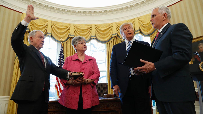 Donald Trump Vereidigung Jeff Sessions