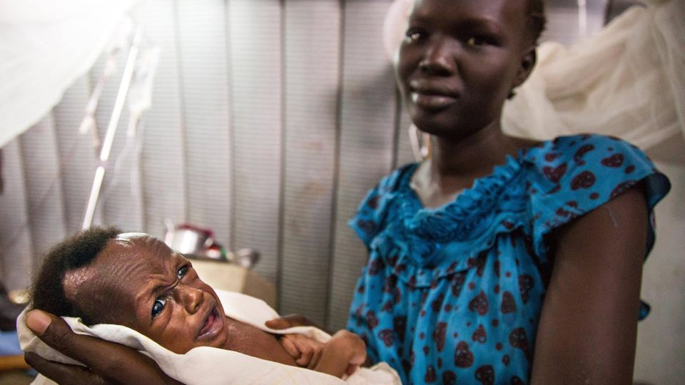 Der kleine Both Tebg im UN-Lager der Hauptstadt Juba